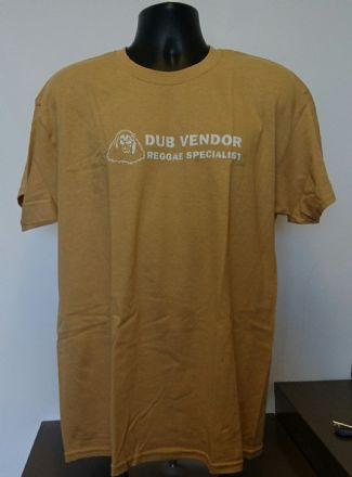 Dub Vendor Reggae Specialist T-Shirt - ORIGINAL - Old Gold / White